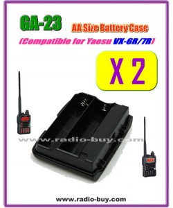 GA-23 x 2 pcs Compatible Battery case for Yaesu VX-6R/VX-7R,FBA-23*