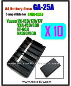 GA-25A x 10 pcs Battery Case compatible for Yaesu VX-150/170/177/FT-60R/HX370 (FBA-25A)***