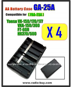 GA-25A x 4 pcs Battery Case compatible for Yaesu VX-150/170/177/FT-60R/HX370 (FBA-25A)**