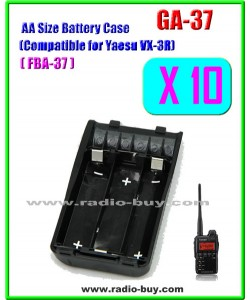 GA-37 x 10 pcs AA Size Battery Case Compatible for Yaesu VX-3R, FBA37***