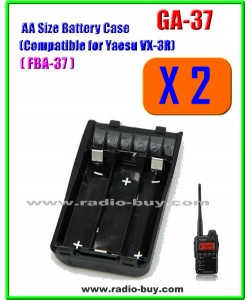 GA-37 x 2 pcs AA Size Battery Case Compatible for Yaesu VX-3R, FBA37*