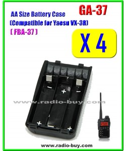 GA-37 x 4 pcs AA Size Battery Case Compatible for Yaesu VX-3R, FBA37**