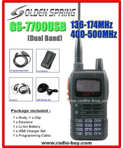 Golden Spring GS-7700USB (Dual Band) 136-174MHz and 400-500MHz