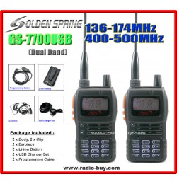 Golden Spring GS-7700USB x 2 pcs (Dual Band) 136-174MHz and 400-500MHz*