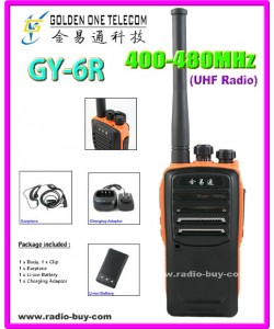 GOT GY-6R Walkie Talkie (UHF 400-480MHz) + Programming Cable