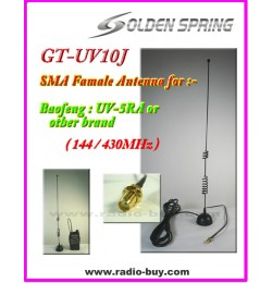 Antenna GT-UV10J SMA Famale Dual Band Hanhheld Antenna (144/430MHz) for baofeng