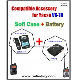 C-88 + G-80LI Compatible Soft Case and Battery for Yaesu (CSC-88 & FNB-80LI)