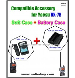 C-88 + GA23 Compatible Soft Case & Battery for Yaesu VX-6R/7R, CSC-88, FBA-23