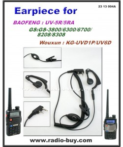 Earphone for Golden Spring /Baofeng/Wouxun/TYT/Puxing/Kenwood Series