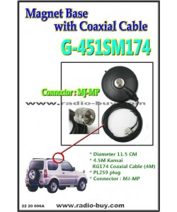 Magnet Base with Coaxial Cable (Model:G451SM174M)*