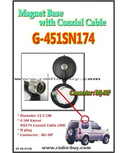 Magnet Base with Coaxial Cable (Model:G451SN174N)**