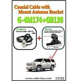 Coaxial Cable with Mount Antenna Bracket (Model : G-4M174+GB130)*