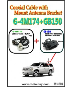 Coaxial Cable with Mount Antenna Bracket (Model : G-4M174+GB150)**