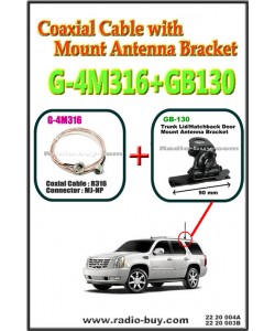 Coaxial Cable with Mount Antenna Bracket (Model : G-4M316+GB130)