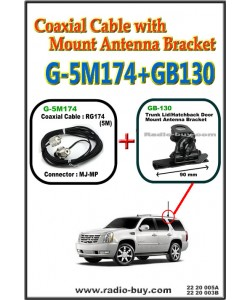 Coaxial Cable with Mount Antenna Bracket (Model : G-5M174+GB130)**