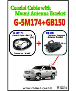 Coaxial Cable with Mount Antenna Bracket (Model : G-5M174+GB150)***