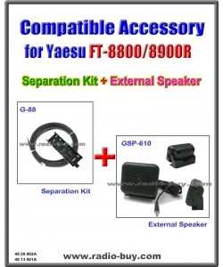 G-88+GSP-610 Separation Kit & External Speaker Compatible for Yaesu FT-8800/8900