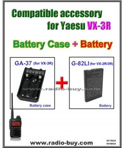 GA-37 + G-82LI AA Size Battery Case & Battery Compatible for Yaesu VX-3R