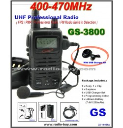 Golden Spring GS-3800USB FRS/ GMRS/PMR/UHF 400-470MHz FM Radio