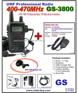Golden Spring GS-3800USB FRS/ GMRS/PMR/UHF 400-470MHz FM Radio+ Mini Hand Mic*