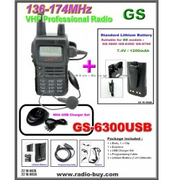 Golden Spring GS-6300USB Amateur Radio (VHF 136-174MHz)+ Additional Lithium Battery (1200mAh)+software**