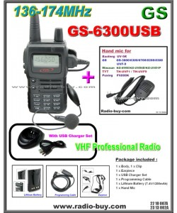 Golden Spring GS-6300USB Amateur Radio (VHF 136-174MHz)+ Mini Hand Mic