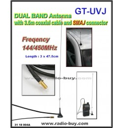 Dual Band Mobile Antenna GT-UVJ (144MHz/450MHz)