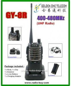 GOT GY-8R Walkie Talkie (UHF 400-480MHz) + Programming Cable*