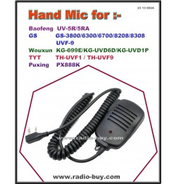 Hand Mic for Baofeng/Golden Spring/Wouxun/TYT/PUXING series