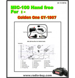 MIC-100 Handfree for Mobile Radio Golden One GY-1907,TYT TH-9000, Anytone AT-588