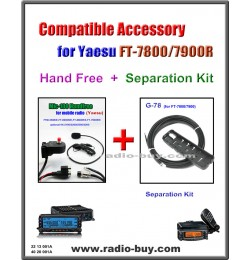 MIC-100 + G-78 Handfree & Separation Kit Compatible for Yaesu FT-7800/7900