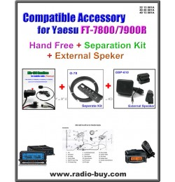 MIC-100+G-78+GSP-610 Handfree/Separation Kit/Speaker compatible for Yaesu FT-7800R/FT-7900R