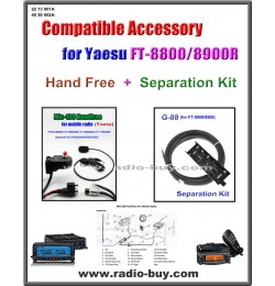 MIC-100 + G-88 Handfree & Separation Kit Compatible for Yaesu FT-8800/8900