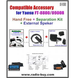 MIC-100+G-88+GSP-610 Handfree/Separation Kit/Speaker compatible for Yaesu FT-8800/FT-8900